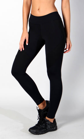 black supplex legging