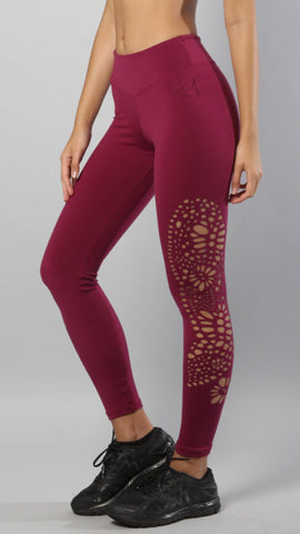 Designer Pink Legging with Net Style L7020 - Equilibrium Activewear - Image 6