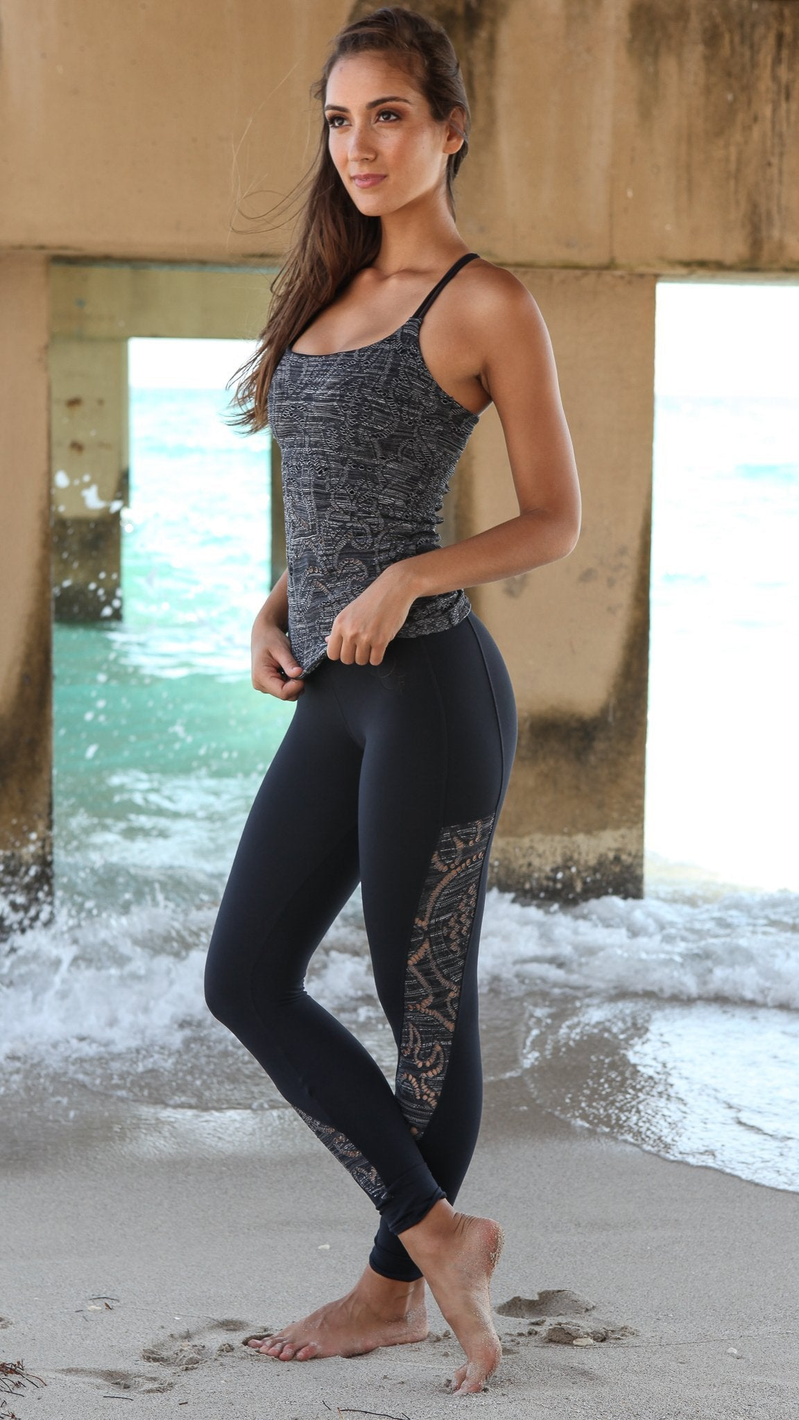 Long Top LT113 Gray - Equilibrium Activewear