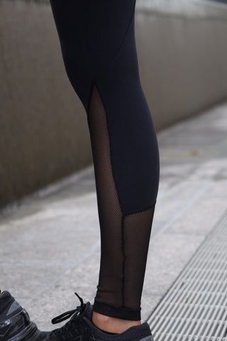 Designer Black Legging with Net below Nee L7024 - Equilibrium Activewear - Image 6
