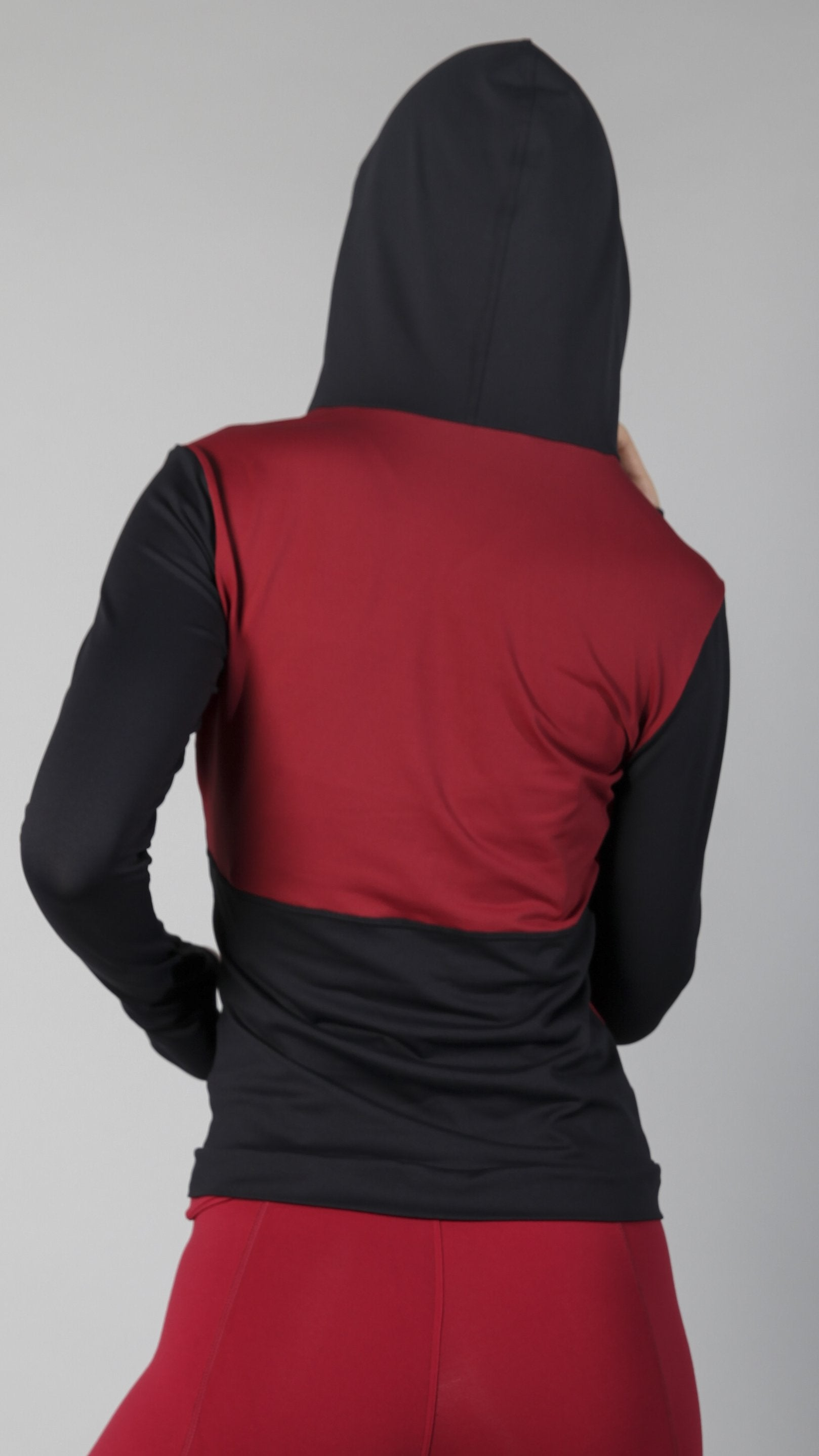 Jacket J823 Burgundy - Equilibrium Activewear
