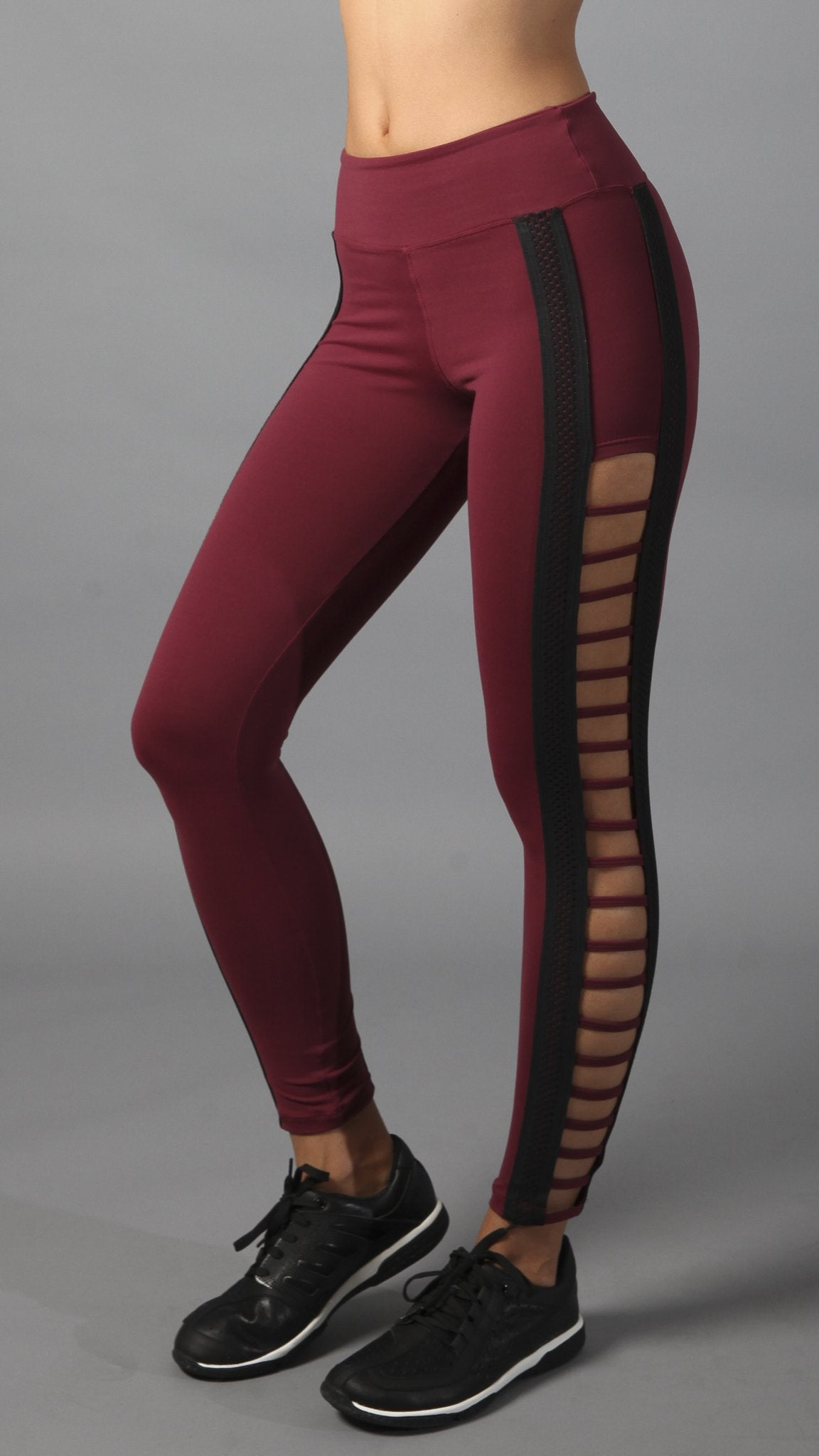 Bordeaux Legging L7028 Burgundy Black