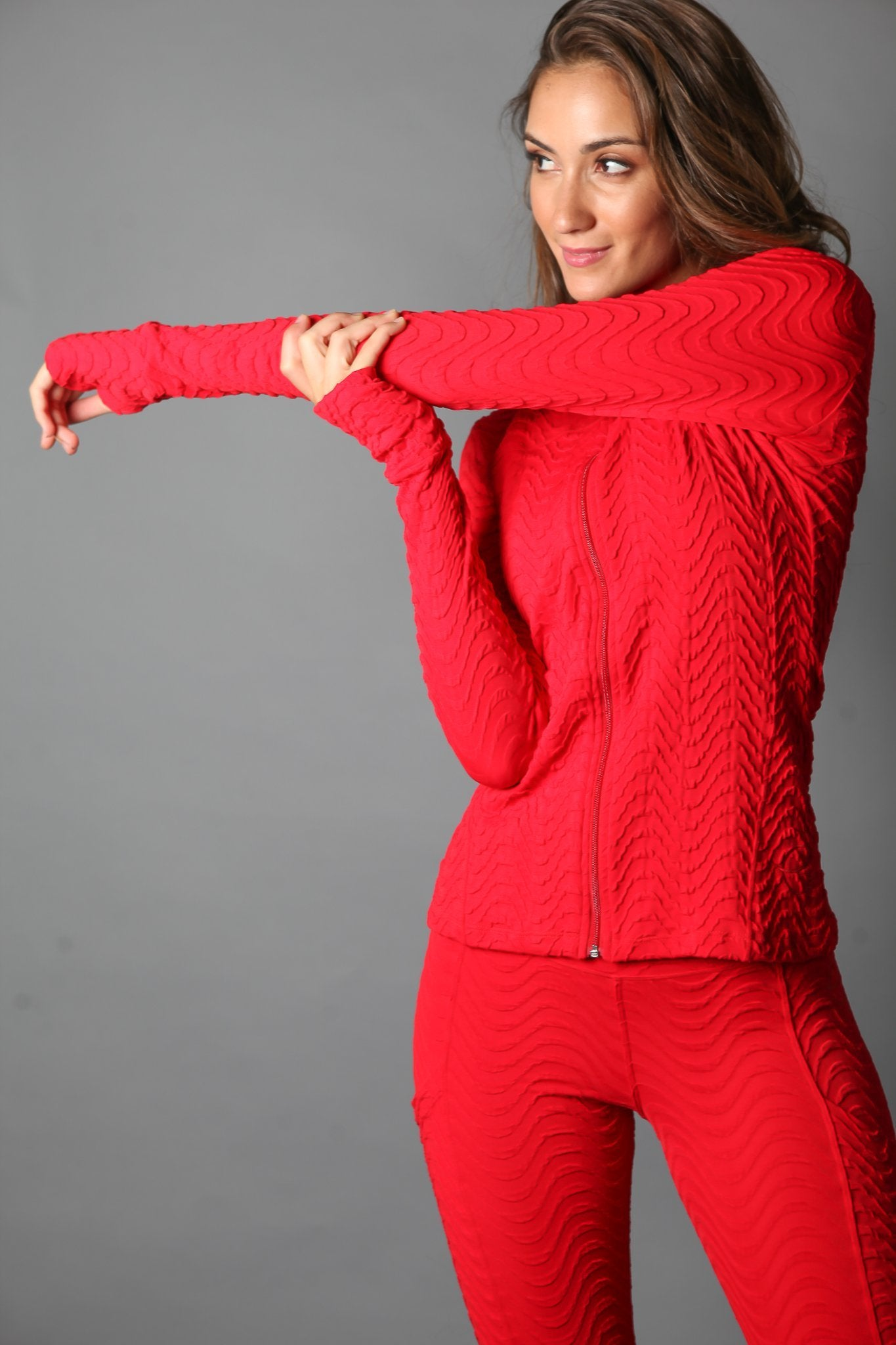 Jacket J814 Red J - Equilibrium Activewear