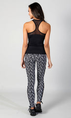 Star Walk Legging Black White - Equilibrium Activewear