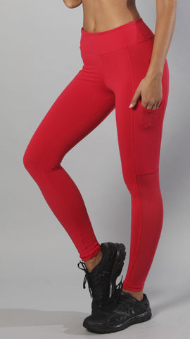 Designer Red Legging with Side Pocket L786