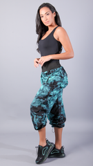 TEAL TIE DYE LIS LONG PANTS LP603