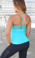 Long Top 1094 Jane Teal Tank - Equilibrium Activewear