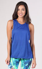 Long Top 1095 Royal Blue Tank - Equilibrium Activewear