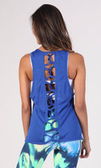 Royal Blue Tank Long Top LT1095