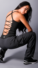 BLACK KAREN LONG TOPS LT113 - Equilibrium Activewear