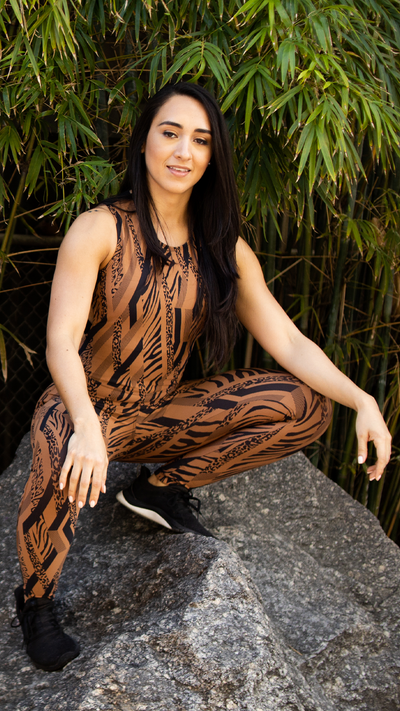 Leopard Abbey Jumpsuit M660