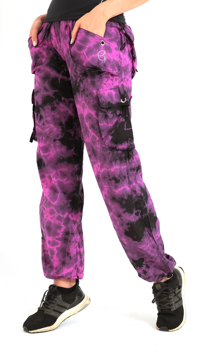 High-Waist Tie-Dye Cargo Lis Long Pant LP603