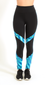 High-Waist French Blue Diamond Legging L7008