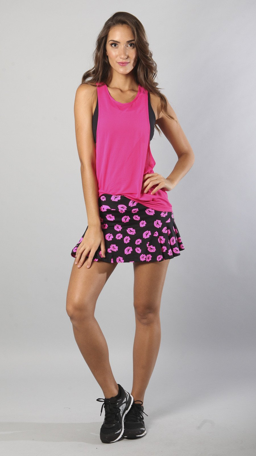 Designer Kisses Pink and Black Skort S520 - Equilibrium Activewear - Image 3