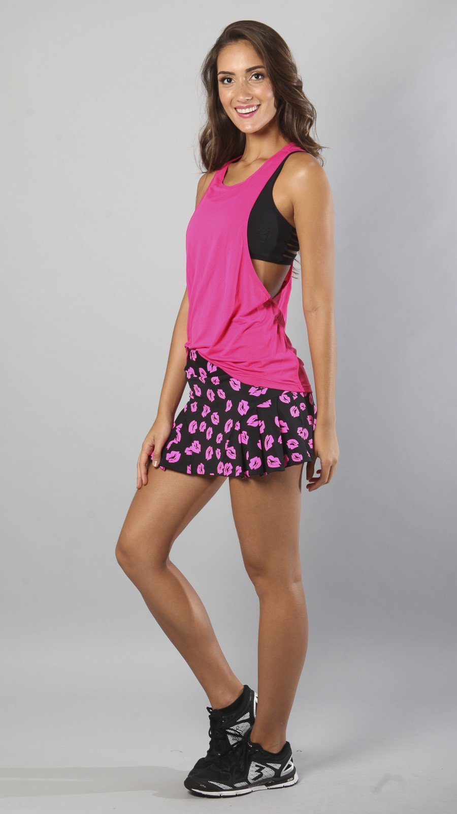 Designer Kisses Pink and Black Skort S520 - Equilibrium Activewear - Image 5
