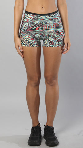 Designer Cali Multicolor Short S527 - Equilibrium Activewear