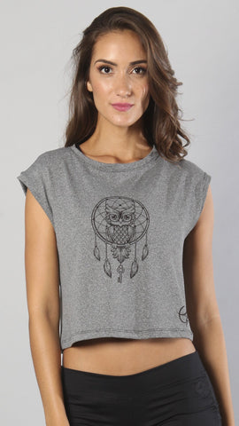 Designer Owl Long Top with Short Sleeve LT1111 - Equilibrium Activewear - Image 1