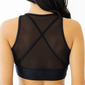 Shiny Black Tersa Bra Top T469 - Equilibrium Activewear