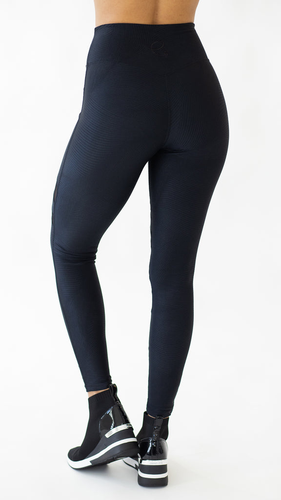 Shiny Black Tersa Legging L7062 - Equilibrium Activewear