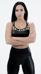 SHINY BLACK FERNANDA BRA TOP T443 - Equilibrium Activewear