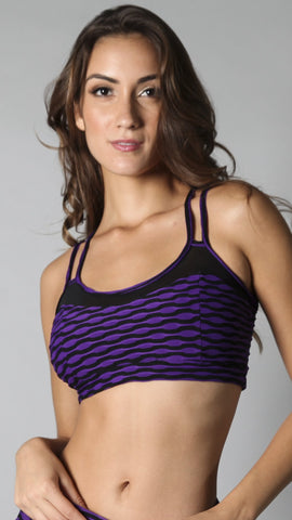Bratop T443 Purple Jackquard with Tule - Equilibrium Activewear