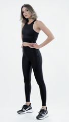 Shiny Black Laura Legging L775 - Equilibrium Activewear