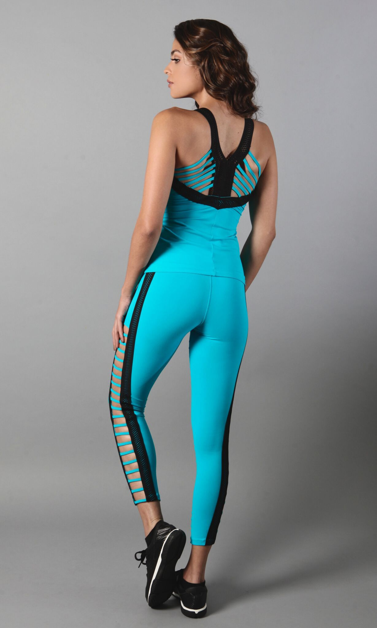 Teal and Black Legging L7028