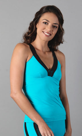 Teal and Black Top LT1127