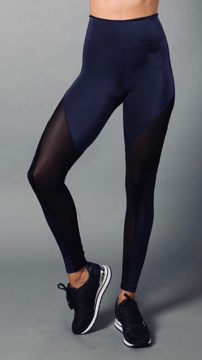 NAVY LEATHER NAYLA LEGGINGS L7046 - Equilibrium Activewear