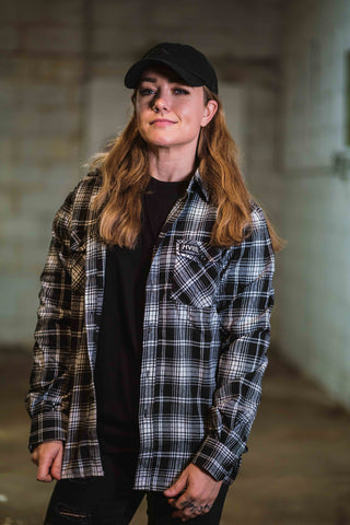 Bonnie in Fall Flannel - White and Black