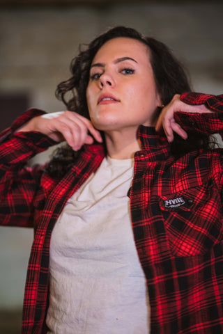 Jess  in Fall Flannel - Red and Black