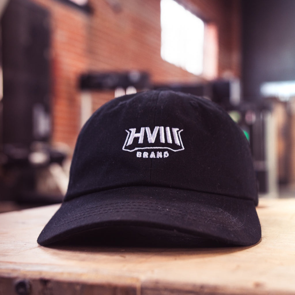 White Fang Dad Hat- Black