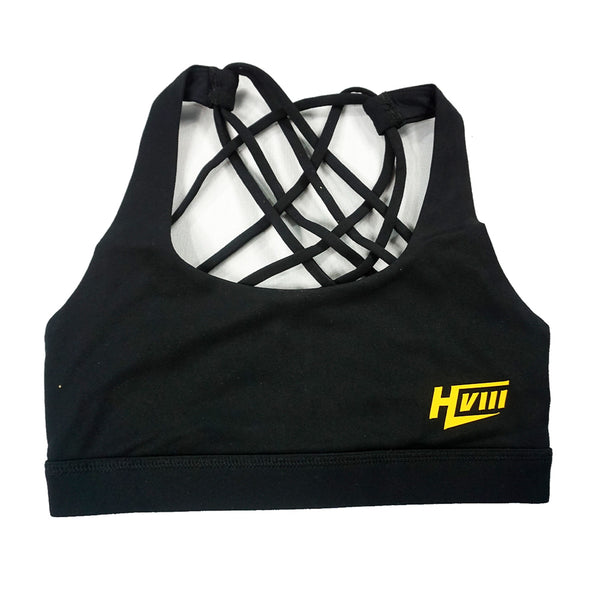 Bra - Black - YELLOW Logo