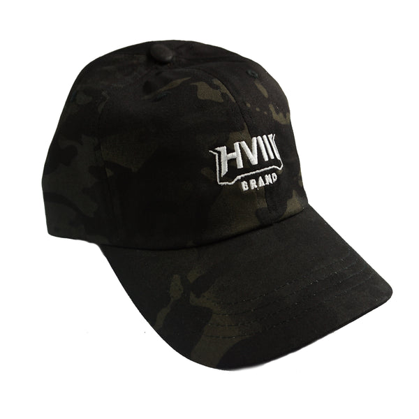 White Fang Dad Hat- Black Multicam