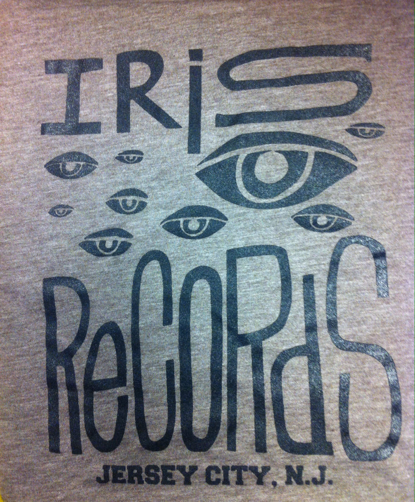 Iris Records Brown Men's T-Shirt w/ Black Print