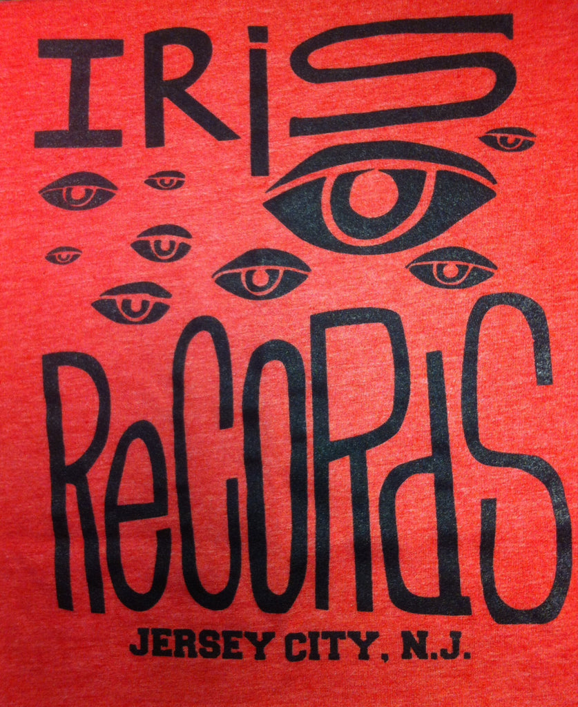 Iris Records Red Men's T-Shirt w/ Black Print