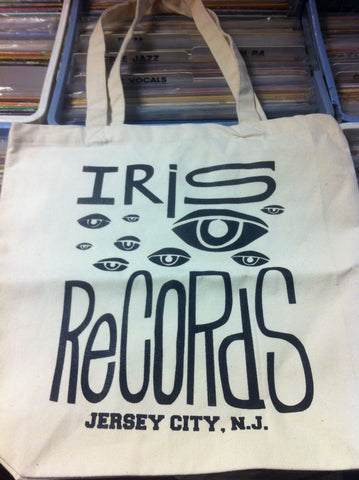 Iris Records Canvas Tote Bag w/ Black Print