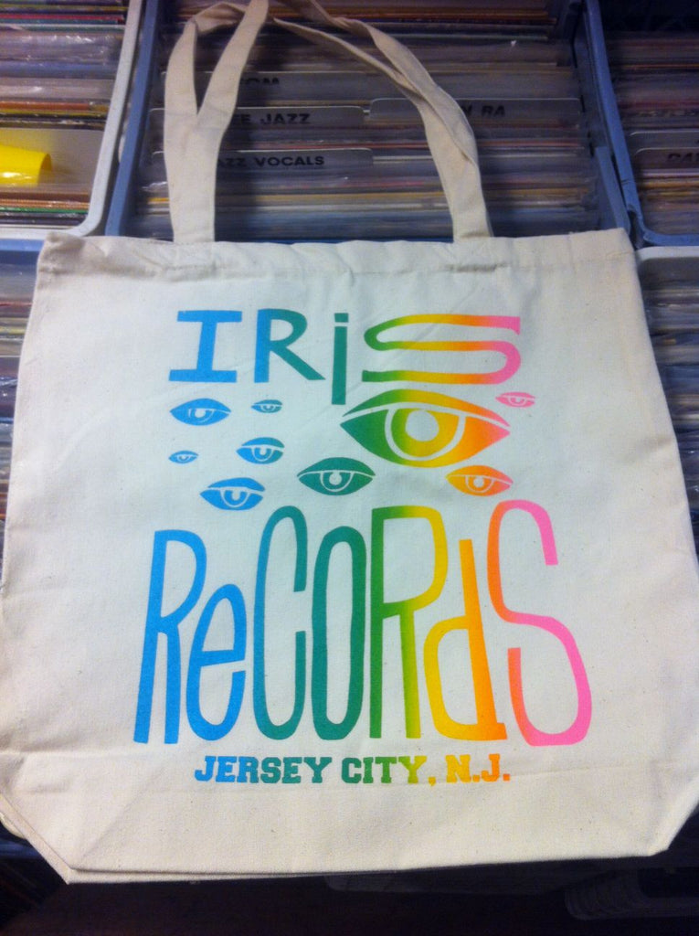Iris Records Canvas Tote Bag w/ Multicolor Print
