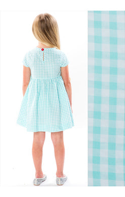 AQUA SEERSUCKER GINGHAM SUNDAY