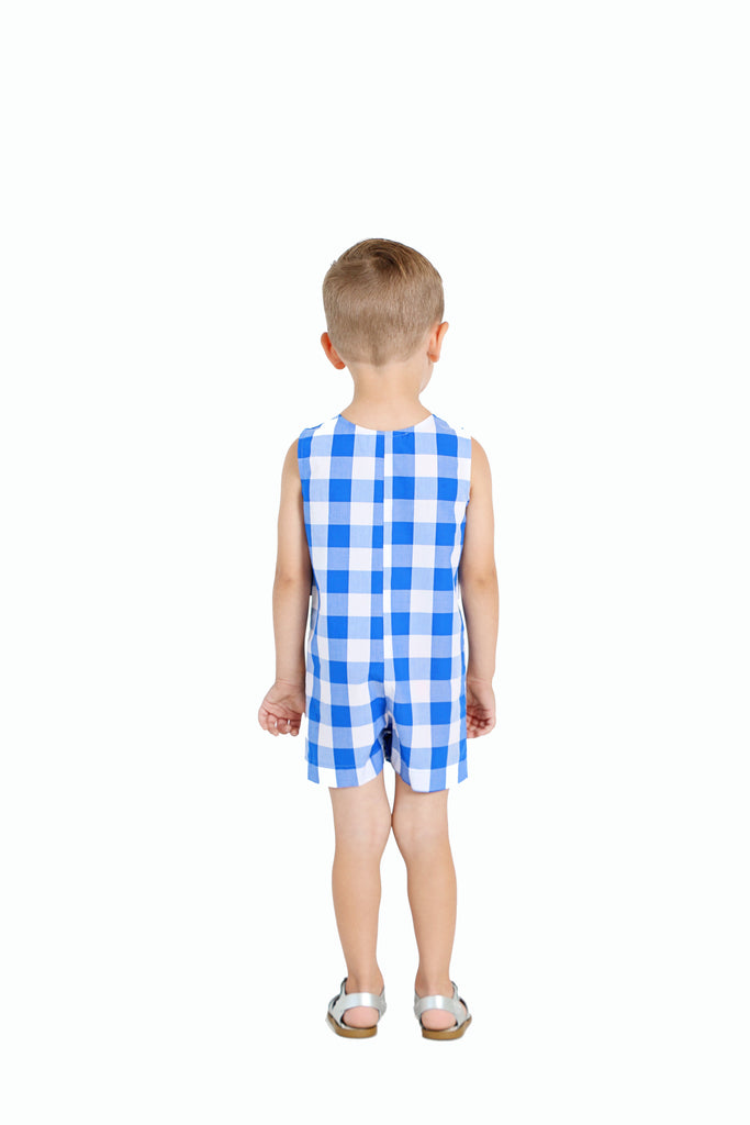 BRIGHT BLUE GINGHAM JON JON