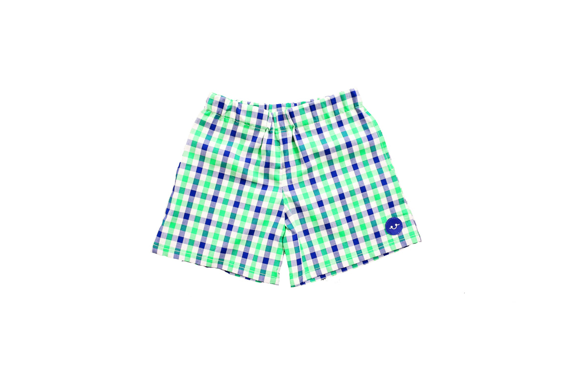 ALLIGATOR GINGHAM PLAY SHORT