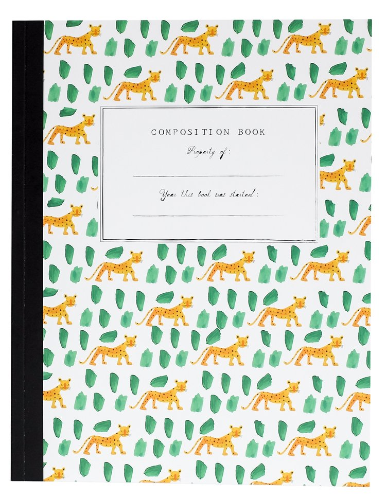 COMPOSITION NOTEBOOK - LEOPARDS