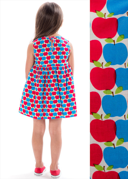 RED AND BLUE APPLES DOUBLE BUTTON