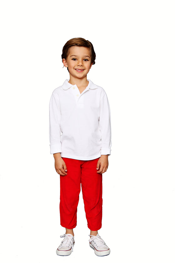 CLASSIC RED CORDUROY PANT