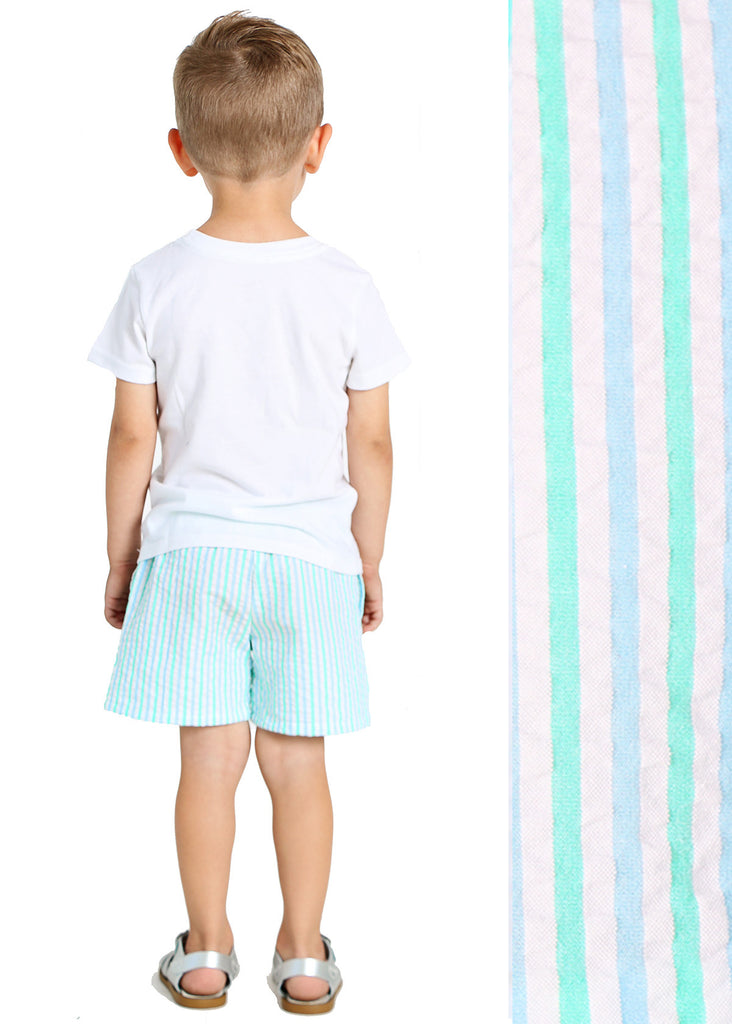 SEASIDE SEERSUCKER PLAY SHORTS