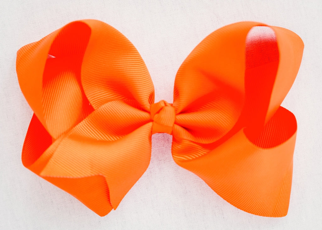 BRIGHT ORANGE BOW