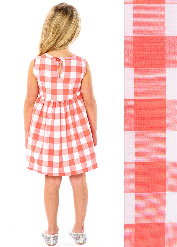 CORAL BUFFALO CHECK PINNY