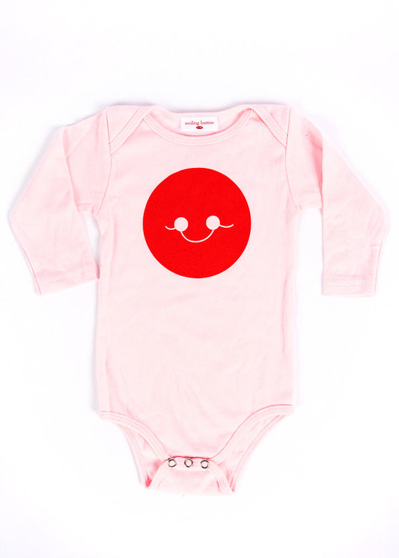 PINK LONG SLEEVE SMILE ONESIE