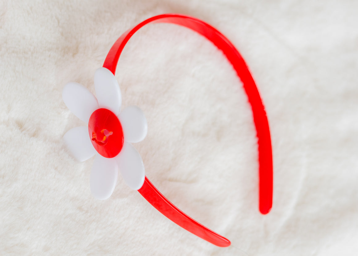 RED DAISY HEADBAND
