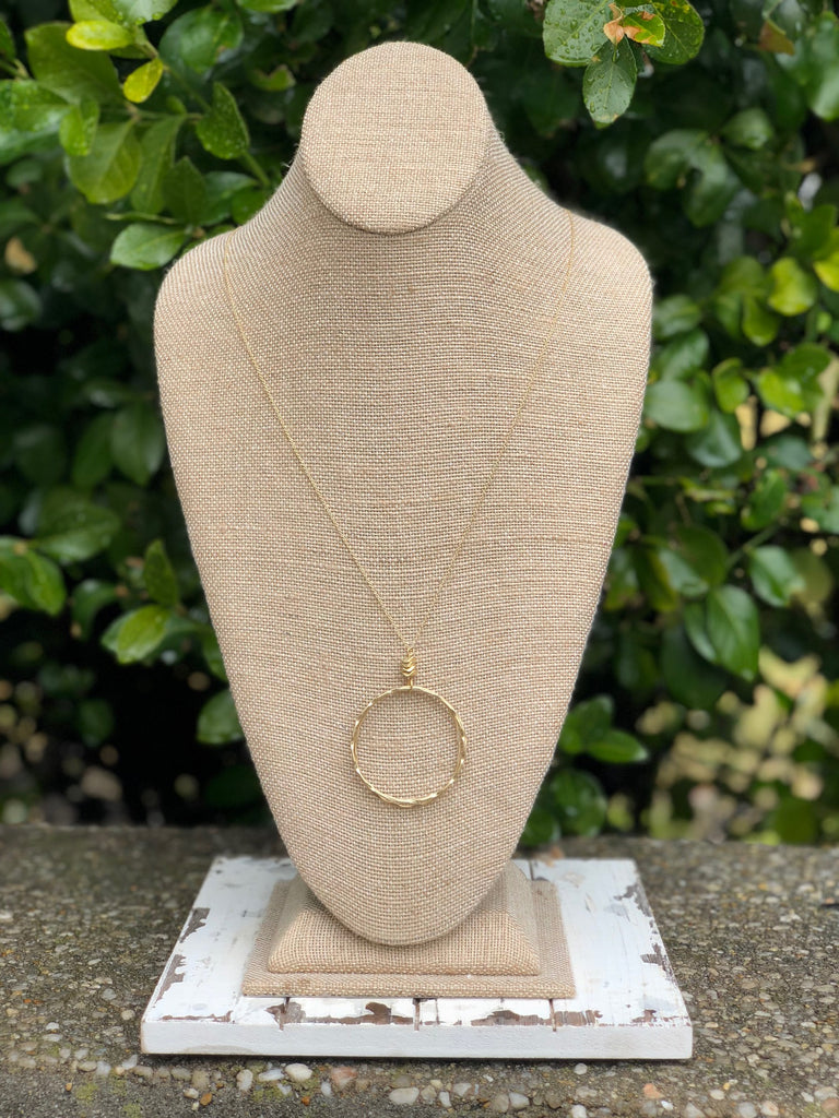 Long Circle Necklace